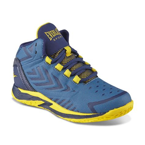 baby basketball shoes everlast 174 sport boy s dribble blue yellow high top