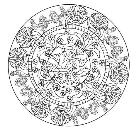 imagenes de mandalas de la naturaleza mandalas para pintar gallos entre flores