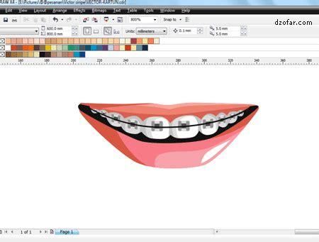 tutorial vector ndop video tutorial vector corel draw menggambar gigi behel