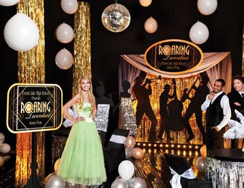 prom theme names with gold back in time with a gatsby prom theme promnite idea center