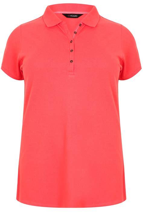 Tshirt Circle C3 t shirt de style polo corail