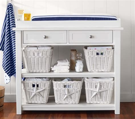 pottery barn changing table with baskets universal changing table topper set pottery barn