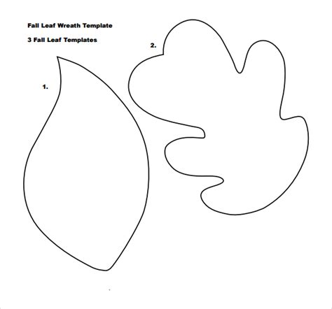 free leaf template sle leaf template 8 free documents in pdf
