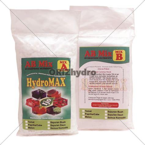 pupuk nutrisi hidroponik ab mix paprika cabe 500gr 200liter jual nutrisi hidroponik abmix hydromax paprika cabe