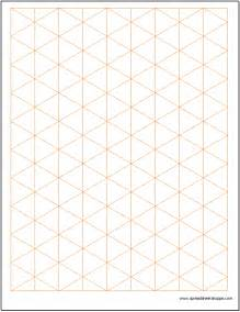 Isometric Grid Template by Isometric Graph Paper Template Spreadsheetshoppe