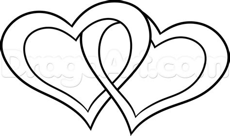 drawing valentines how to draw tribal hearts step by step