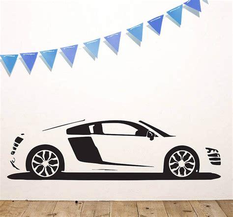 cars stickers for wall r8 sports car vinyl wall sticker by oakdene designs notonthehighstreet