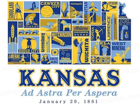 Kansas The 34th State by Kansas Day Commemorates The Admission Of The State As The