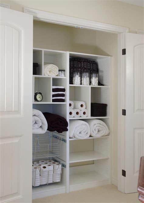 linen closet organizer contemporary closet toronto