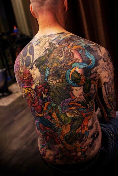 oriental god tattoo 130 best raijin and fujin images on pinterest japan