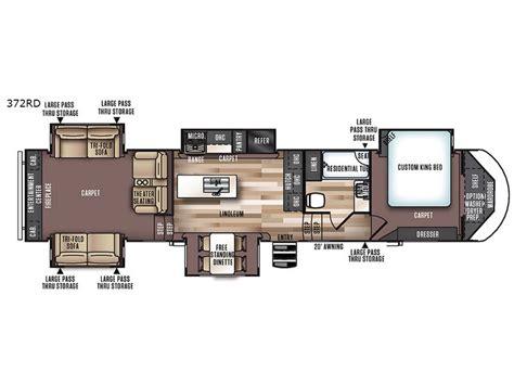 wildwood fifth wheel floor plans new forest river rv wildwood heritage glen 372rd fifth