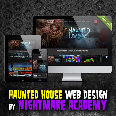 house web design haunted house website design by nightmare academy web design spookteek