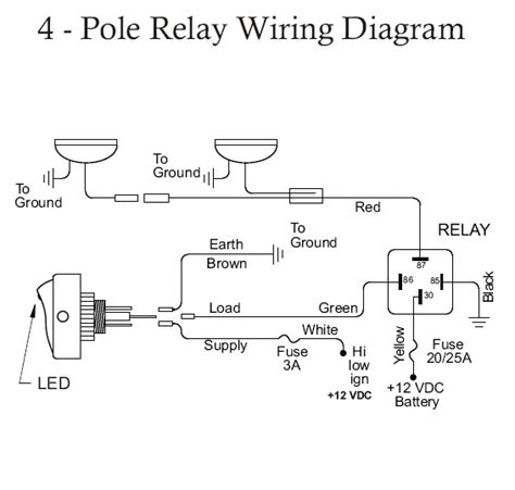 5 pole relay wiring diagram horn 5 free engine image for
