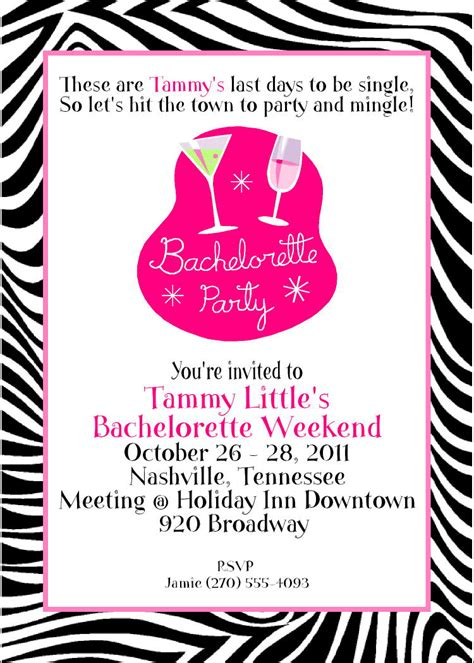 funny bachelorette party invitation wording