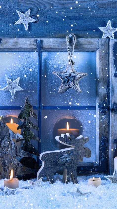 wallpaper christmas  year decorations candle snow