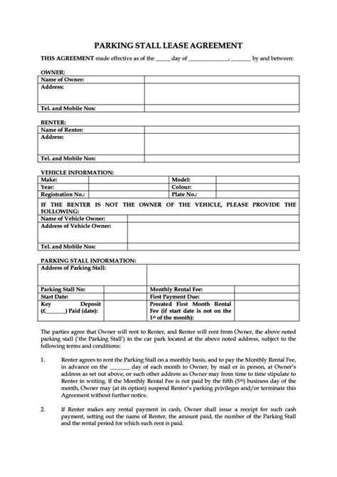 tenancy agreement template uk free download