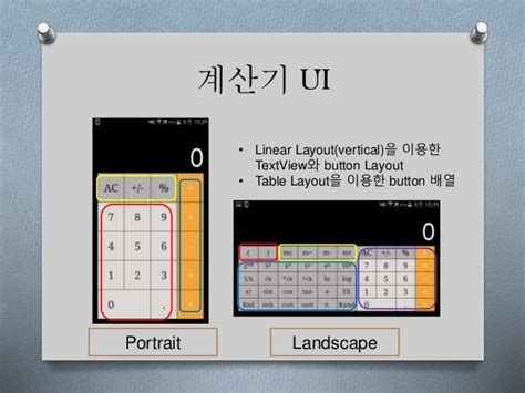 layout landscape portrait android coding an ios style calculator with android studio
