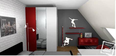 modele de chambre pour ado garcon chambre gris et ado