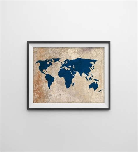 hanging prints without frames rustic world map print rustic vintage style world map poster