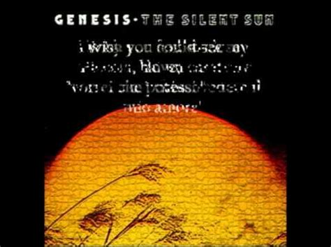 firth of fifth testo genesis the silent sun by girasole