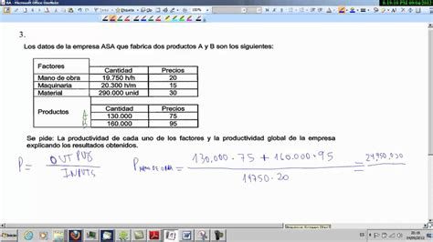 economa 2 bachillerato 8467587121 productividad de una empresa selectividad econom 237 a 2 186 bachillerato youtube