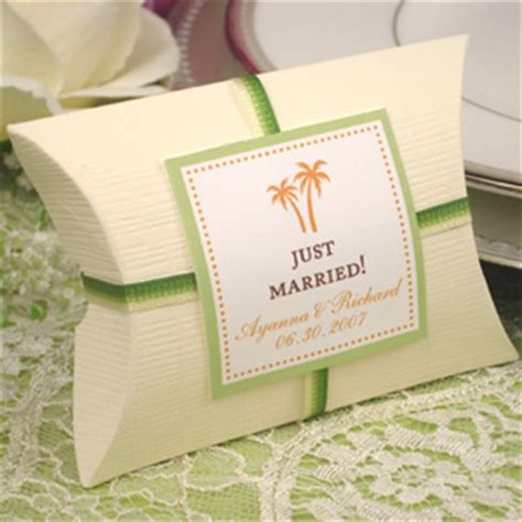 pillow wedding favor boxes pack of 10 favor boxes