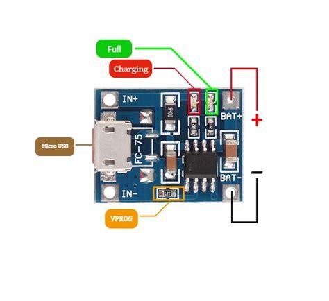 Tp4056 Li Ion Usb Charge tp4056 1a li ion lithium battery charging module micro b usb robu in indian store