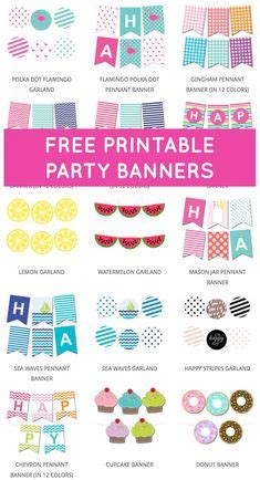 printable party banner maker free printable birthday hat template for how to make