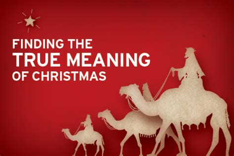 ministry matters finding the true meaning of christmas