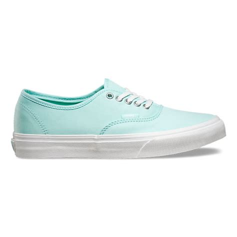 light blue womens vans shoes brushed twill authentic slim shop womens shoes at vans