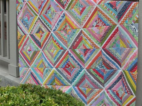 String Quilts by The Picket Fence Scrappy String Quilt