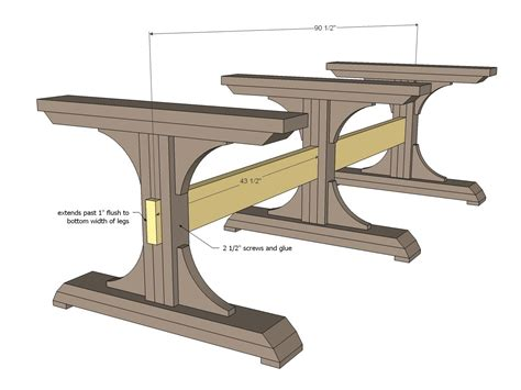 farmhouse trestle table plans white build a pedestal farmhouse table free