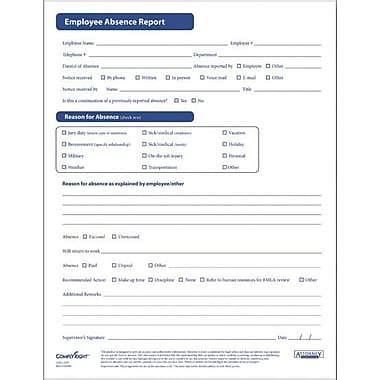 employee absence form template complyright employee absence report form staples