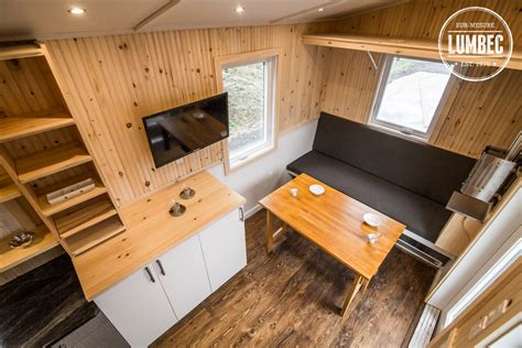 Foyer Interior by Tiny House Lumbec Le Projet 2015