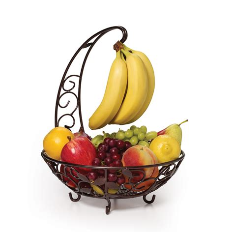 fruit and basket fruit basket with banana hanger pfaltzgraff