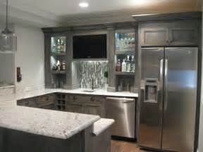 Finished basement contemporary kitchen chicago