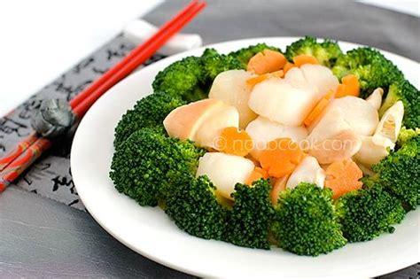 new year vegetable dishes broccoli and scallops recipe scallops new year s and