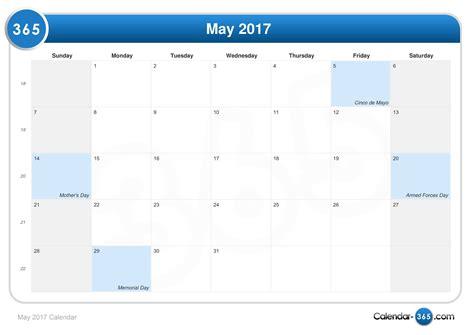 Mai Kalender 2017 May 2017 Calendar