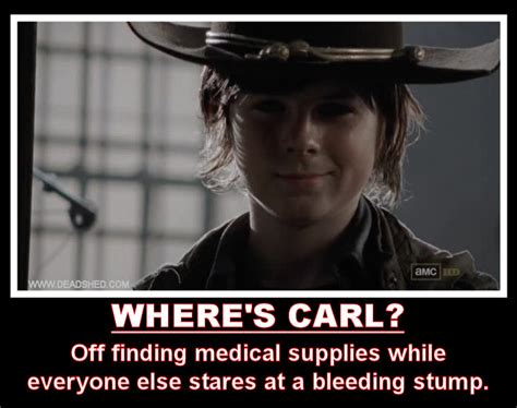 Walking Dead Carl Meme - deadshed productions october 2012