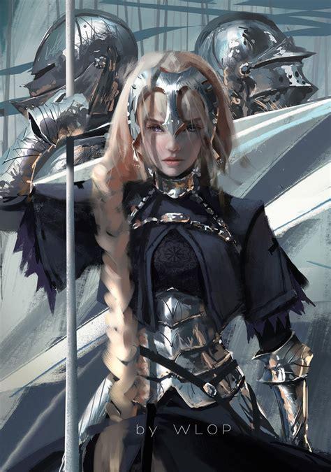 was joan of arc blonde ruler by wlop on deviantart