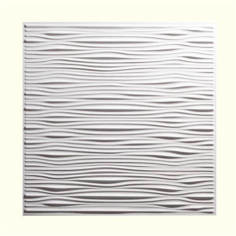 genesis 2 ft x 2 ft drifts white ceiling tile 751 00