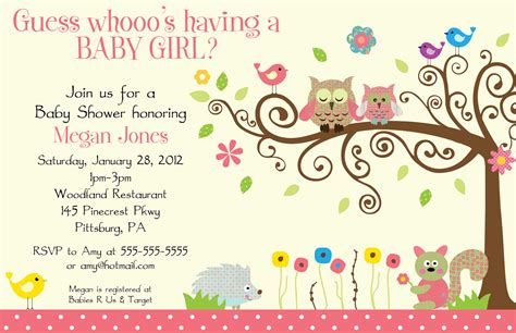 baby shower invitations for girl template best template