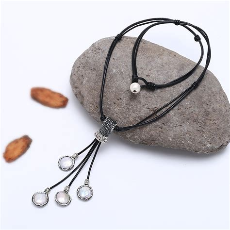 Handmade Leather Necklace - genuine leather cord necklace jewelry handmade with