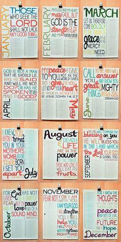 bible verses calendar printable digital