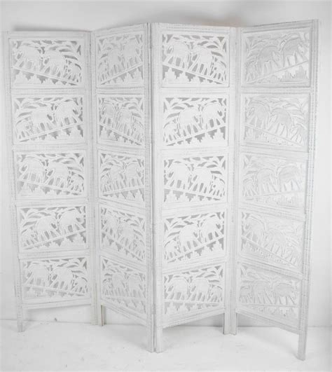 White Room Divider Carved Indian Elephant Room Divider Screen White Room Dividers Uk