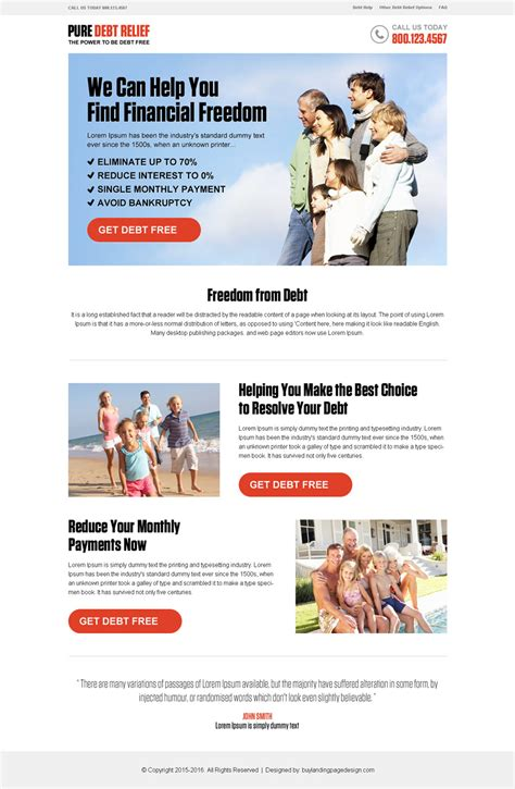 ppc landing page template pay per click landing page design templates exle for