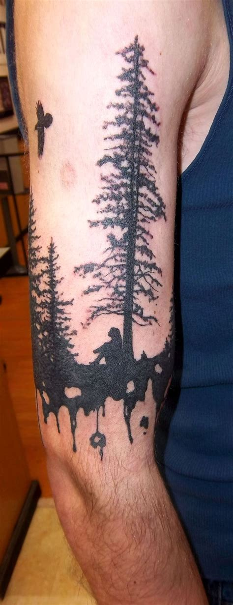 silhouette tattoo designs silhouette tree with a it holy roller