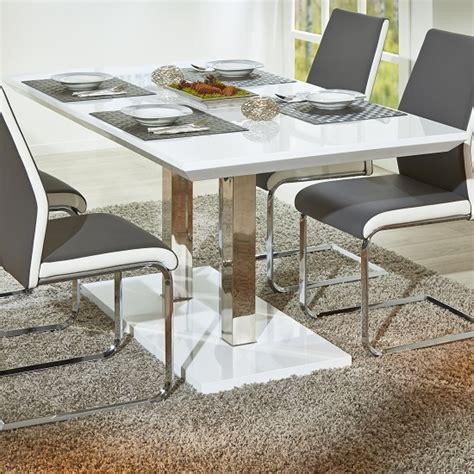 Dining Tables Edmonton Edmonton Modern Extendable Dining Table In White High Gloss