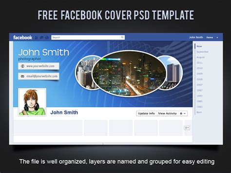 Free Fb Cover Templates 19 Splendorous Facebook Timeline Covers Psd Templates Smashingcloud
