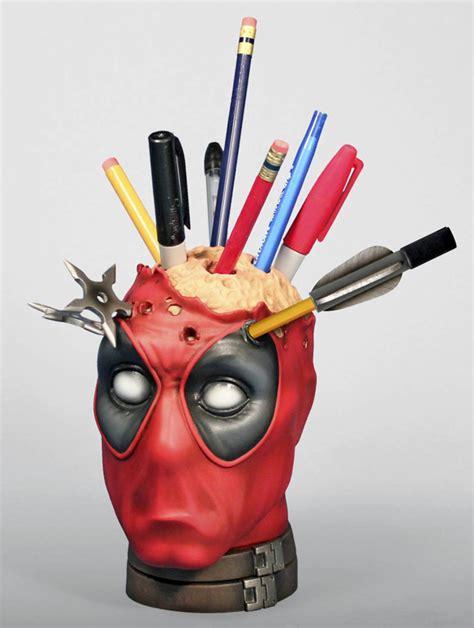 Deadpool Pencil Cup Desk Accessory deadpool pencil holder desk accessory
